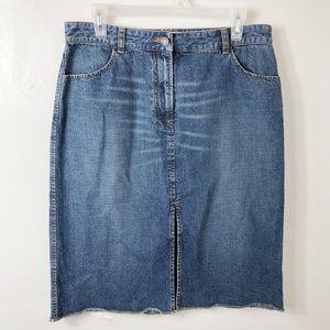Armani Exchange Denim Split Front Pencil Skirt 10